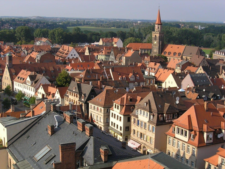 El casco antiguo de Fürth visto desde la torre del ayuntamiento Fürth Alemania
