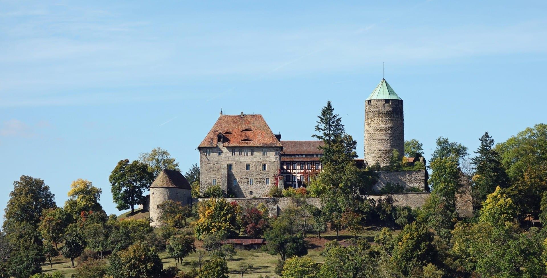 El castillo de Colmberg Ansbach Alemania