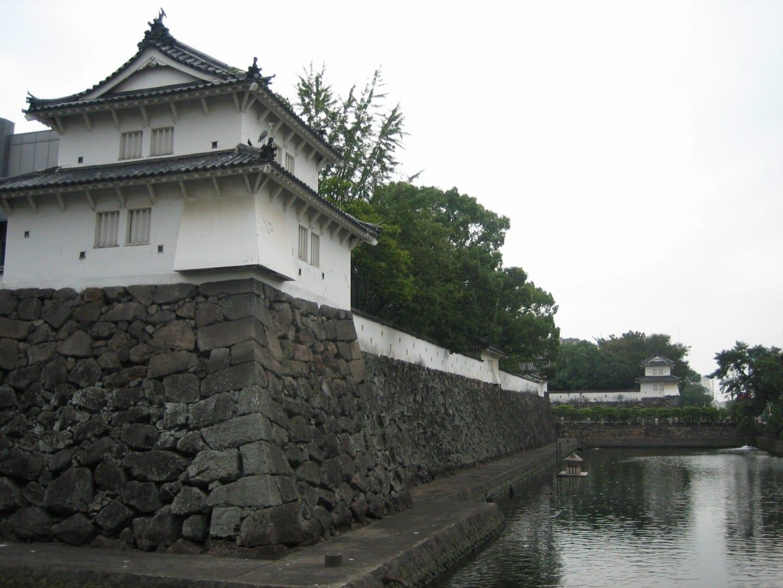 El castillo de Funai Oita Japón