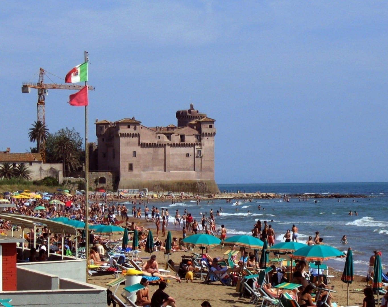 el Castillo de Santa Severa Civitavecchia Italia