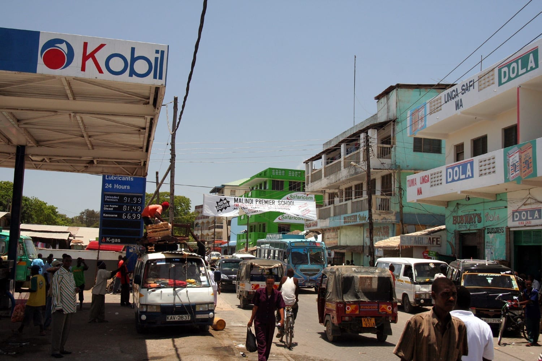 El centro de la ciudad Malindi Kenia