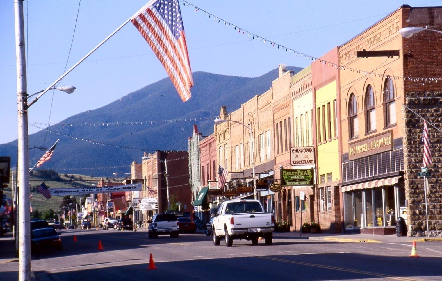 el centro histórico de Red Lodge Red Lodge MT Estados Unidos