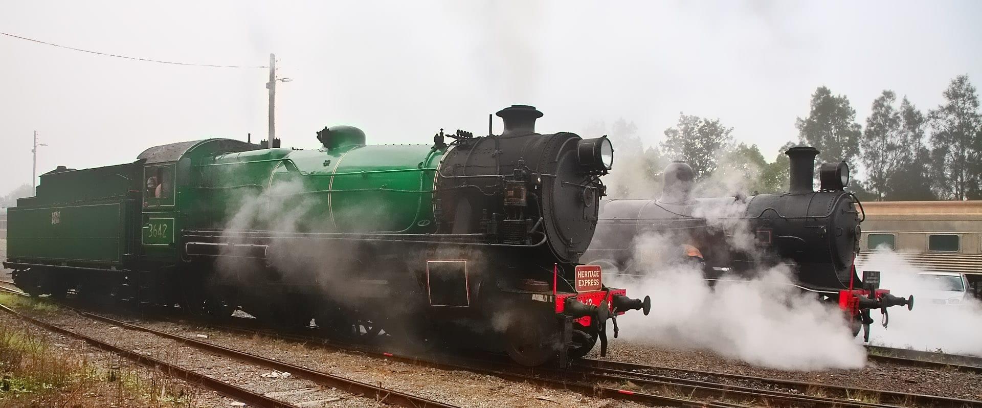 El festival de vapor del Valle Hunter Maitland Australia