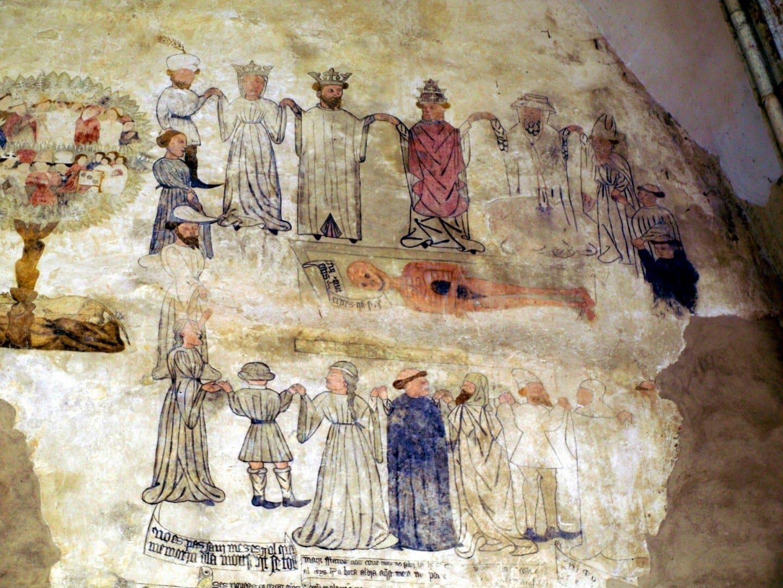 El fresco gótico del Convento de San Francisco Morella España