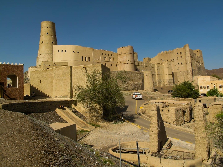 El Fuerte de Bahla, uno de los cuatro fuertes principales de Omán y un sitio de Patrimonio Mundial de la UNESCO. Bahla Omán