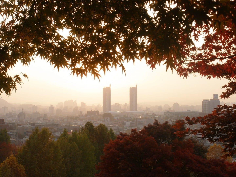 El horizonte de Daejeon Central Daejeon Corea del Sur