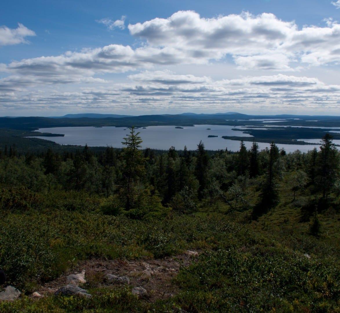 El lago Jerisjärvi. Kittilä Finlandia