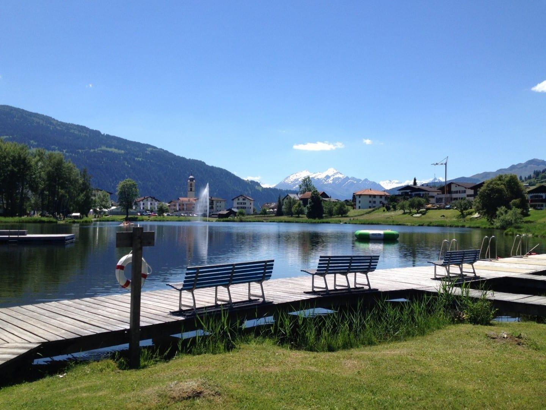 El lago Laax Suiza