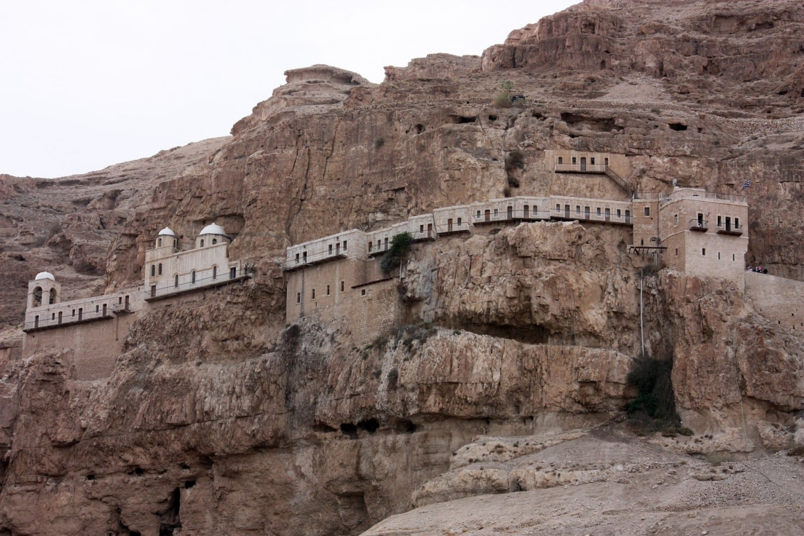 El Monasterio Ortodoxo Griego de la Tentación al norte de Jericó Jericó Palestina