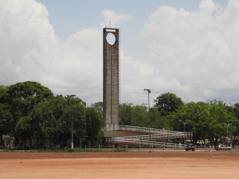 El monumento de la Marca Cero, donde el ecuador pasa por Macapá Macapá Brasil