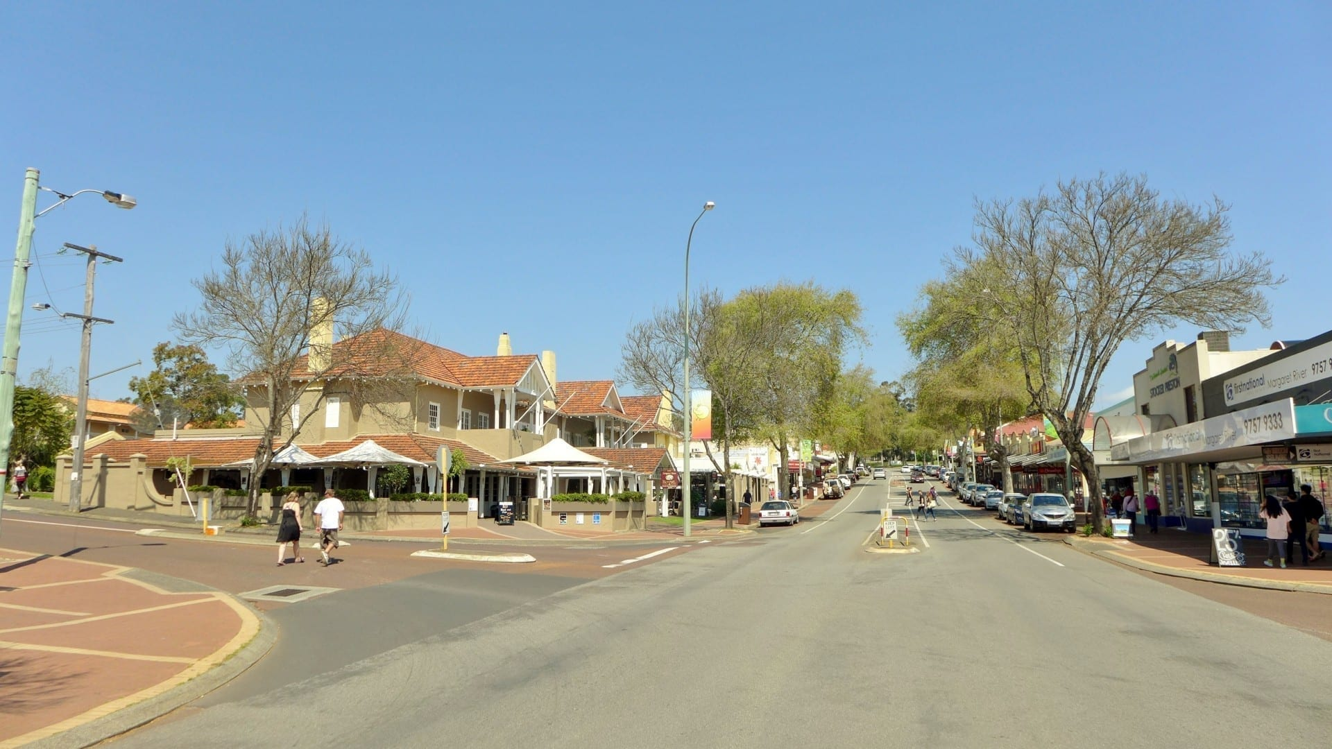 El municipio de Margaret River. La ciudad debe su nombre al río que cruza la carretera principal cercana. Margaret River Australia
