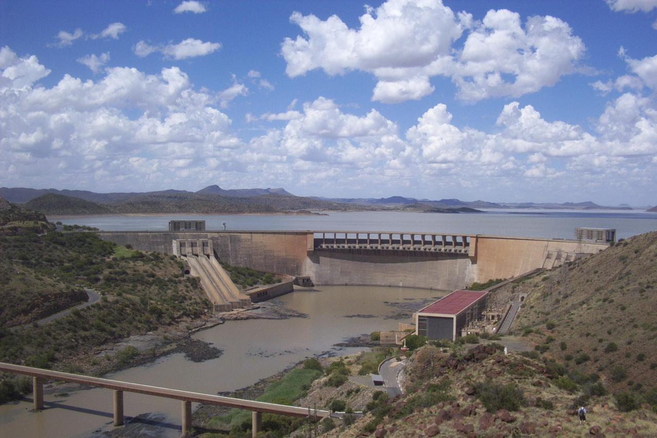 El muro de la presa Gariep Dam República de Sudáfrica