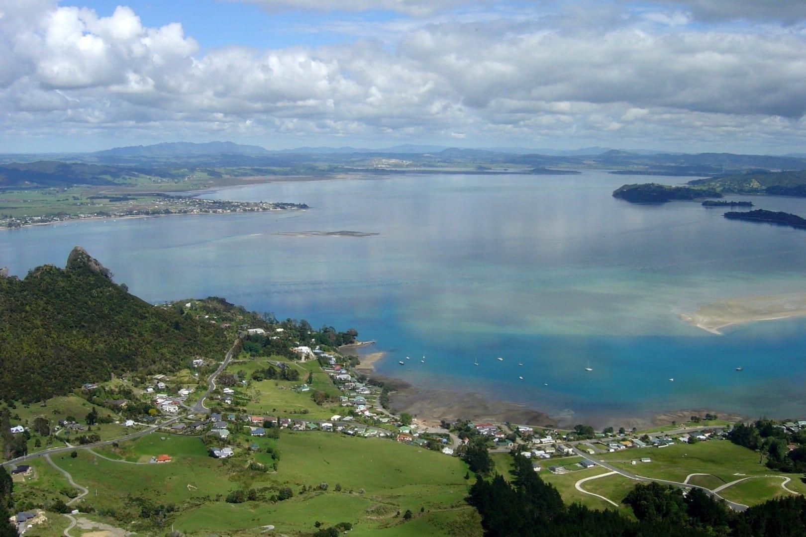 El puerto de Whangarei del Monte Manaia Whangarei Nueva Zelanda