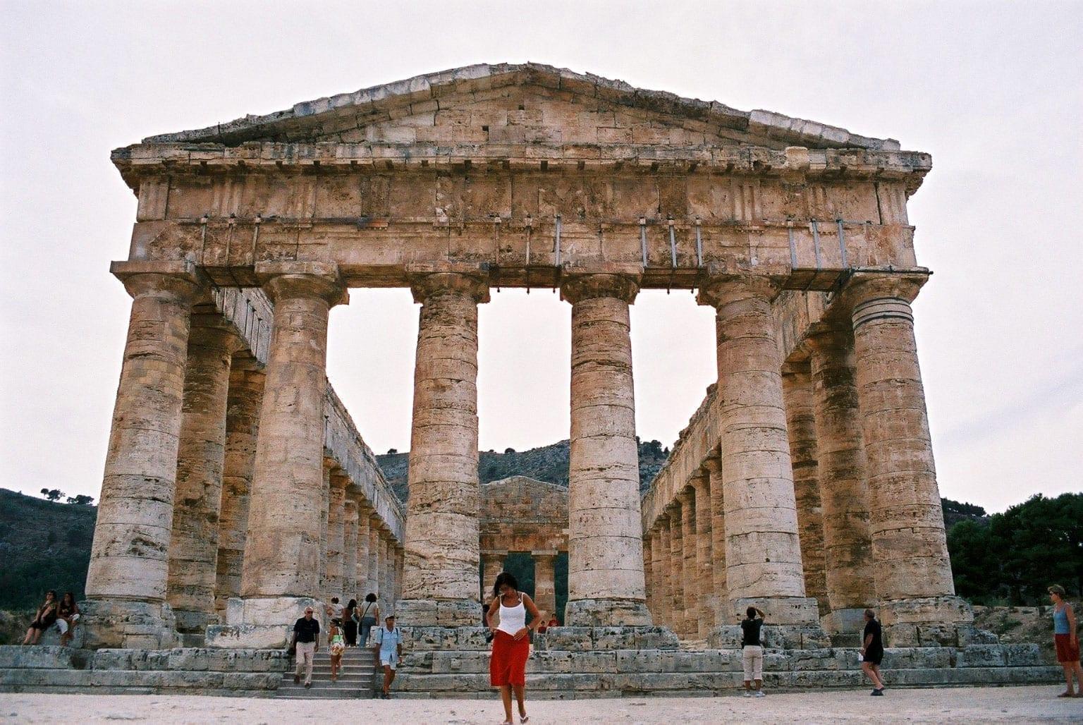 El templo de Segesta Balestrate Italia
