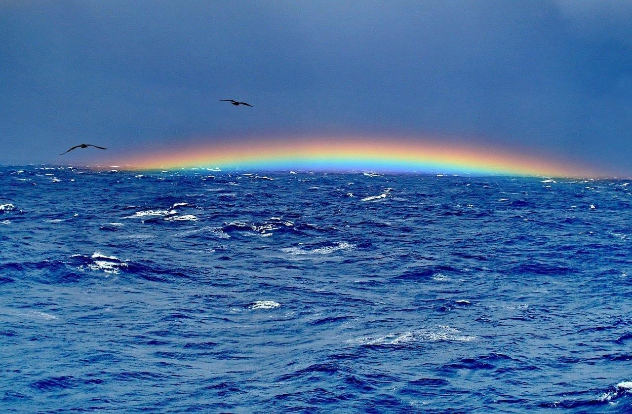 El Triángulo De Las Bermudas Arco Iris Océano Bermudas