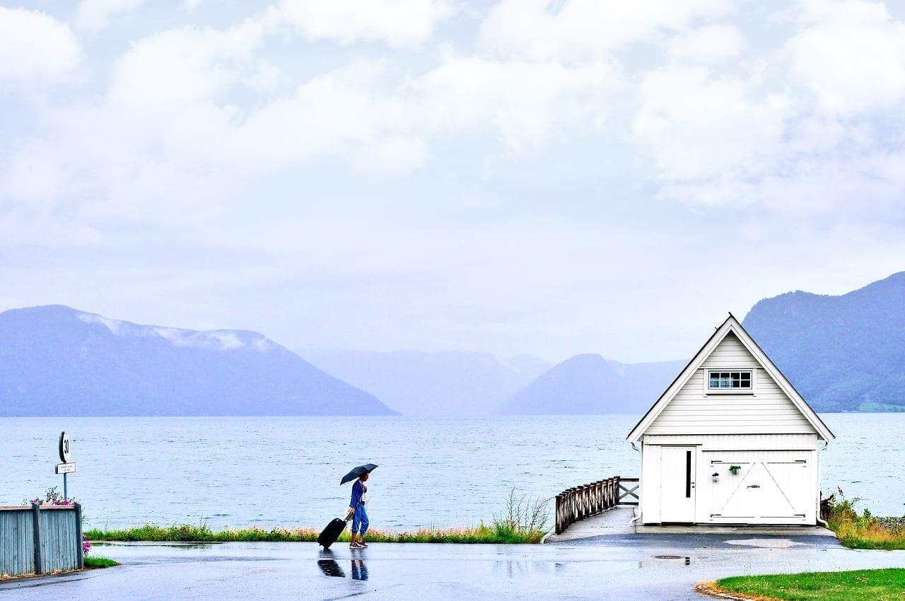 El Turismo La Lluvia Sognefjorden Noruega