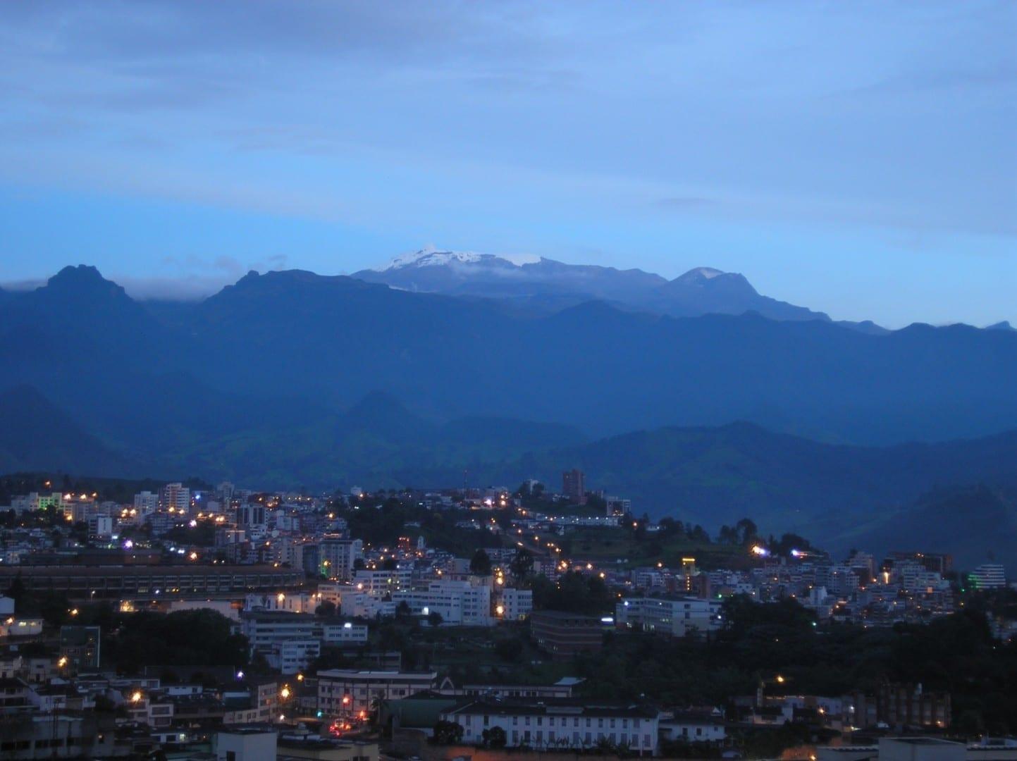 El volcán El Ruiz en 2006 Manizales Colombia