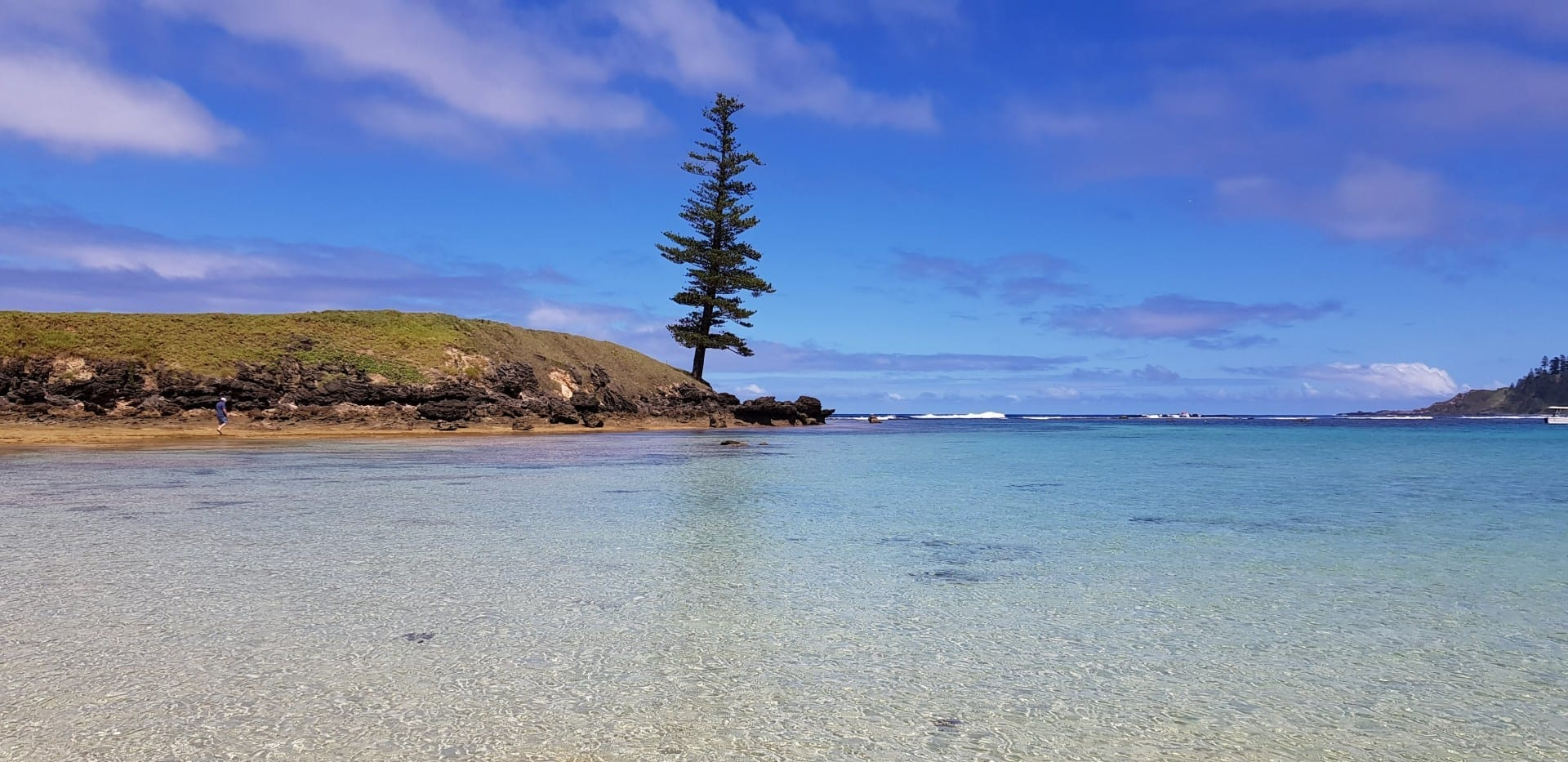 Emily Bay viendo Lone Pine Norfolk Island Australia