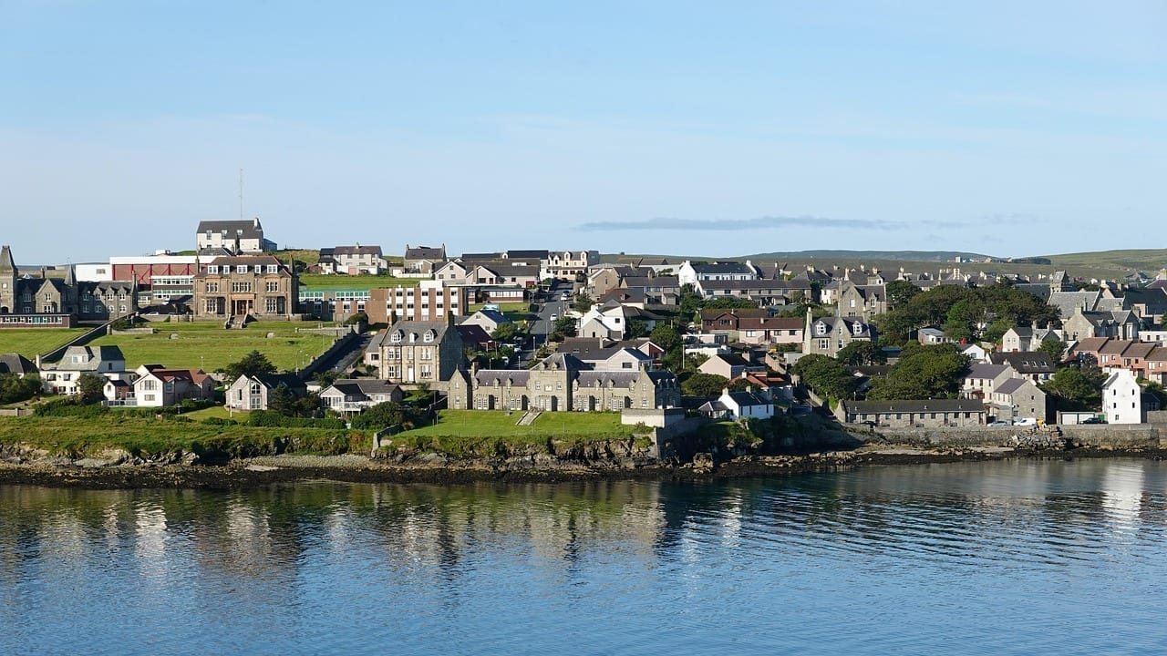En Islas Shetland Costa Reino Unido