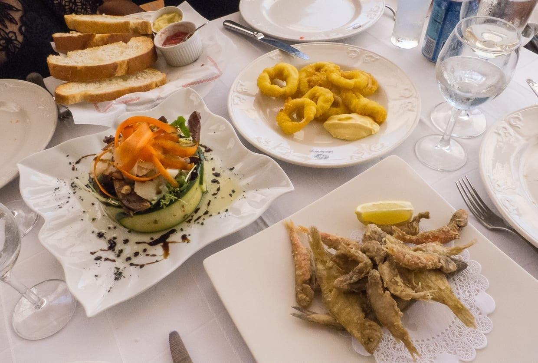 Entrantes en el Restaurante Casa Salvador Cullera España