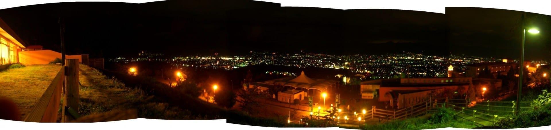Es famoso por la vista nocturna... Yamanashi Japón