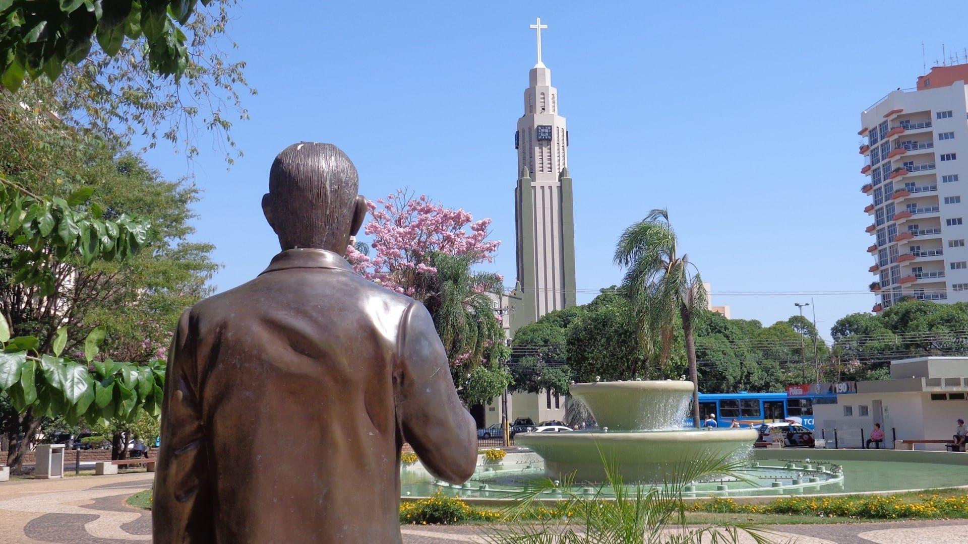Estatua del Presidente Prudente fundador, Francisco de Paula Goulart Presidente Prudente Brasil