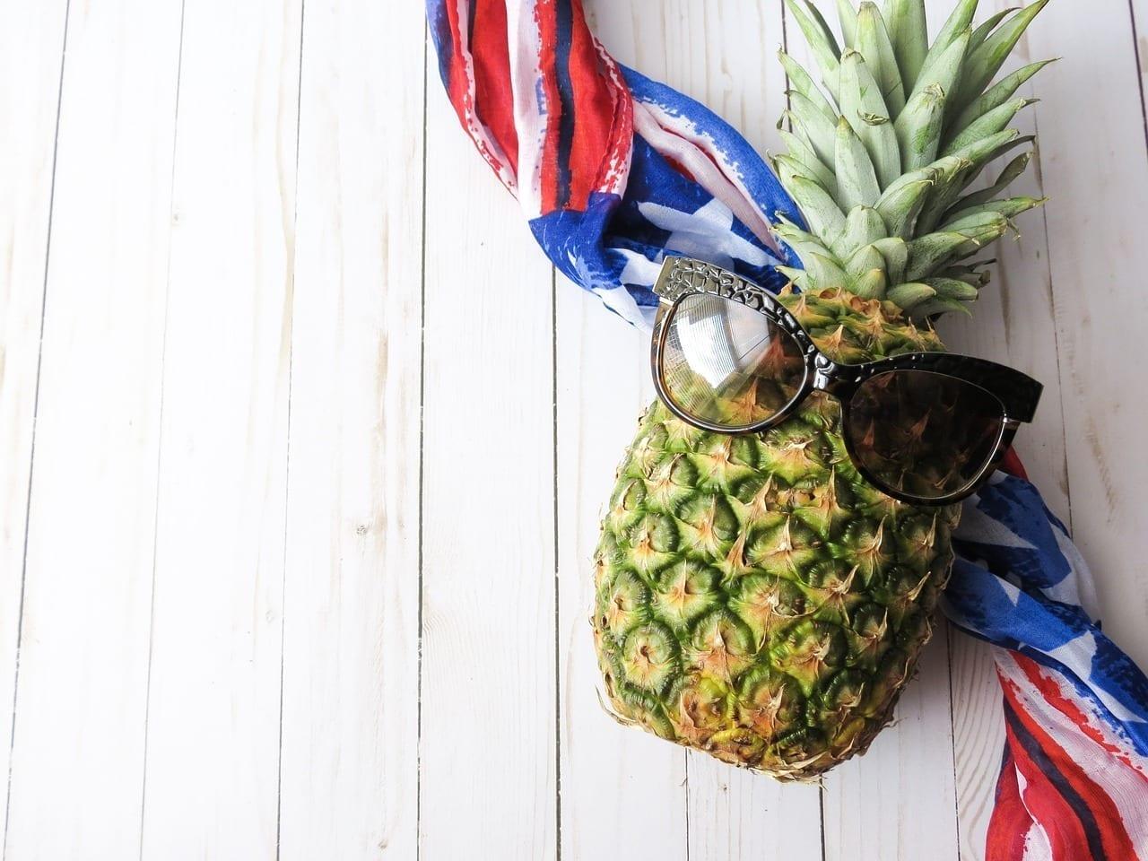 Frutas Piña Bandera Americana Brasil