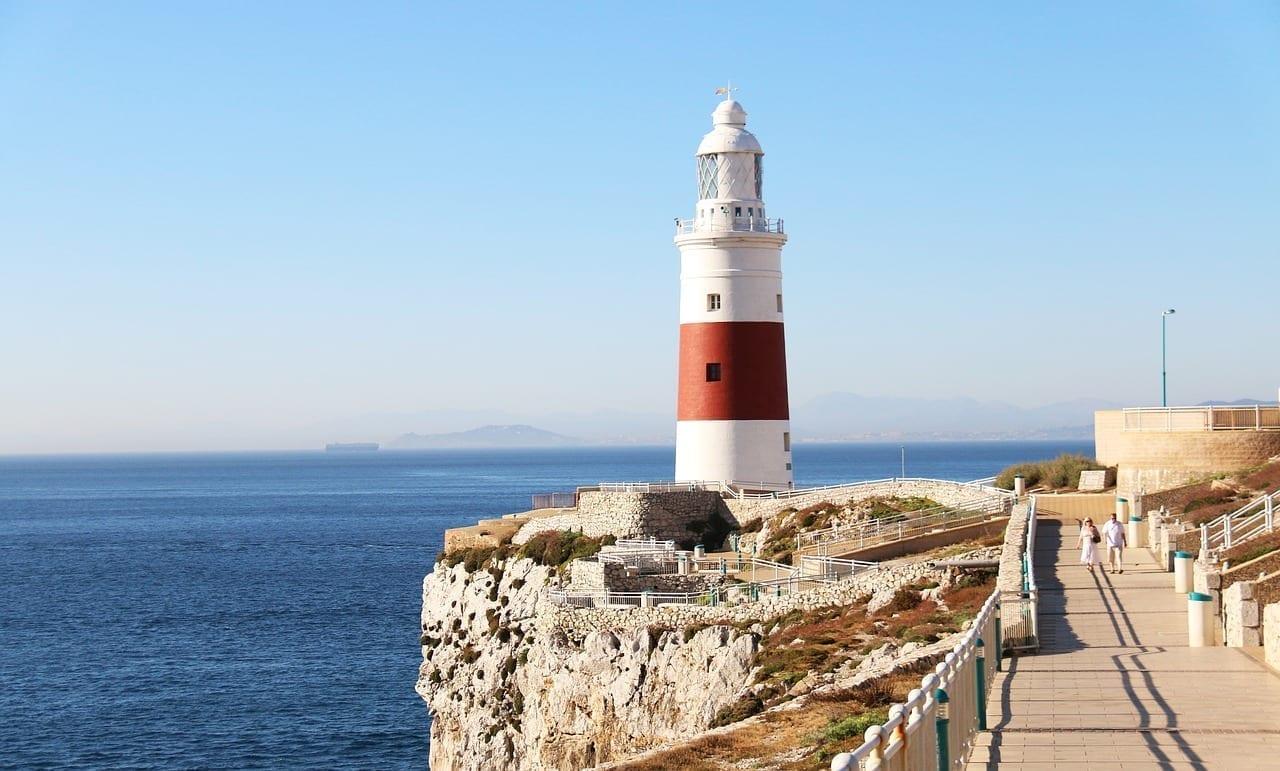 Gibraltar Faro Faro Del Punto De Europa España