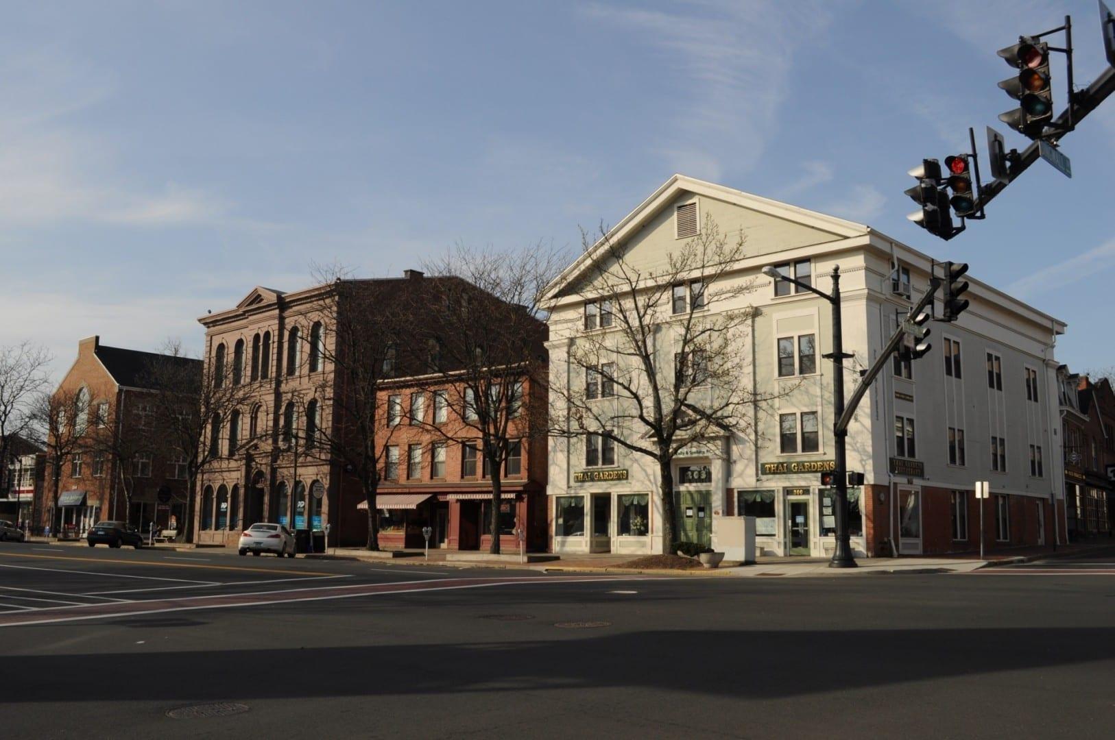 Grandes porciones del centro de Middletown datan del siglo XIX. Middletown CT Estados Unidos