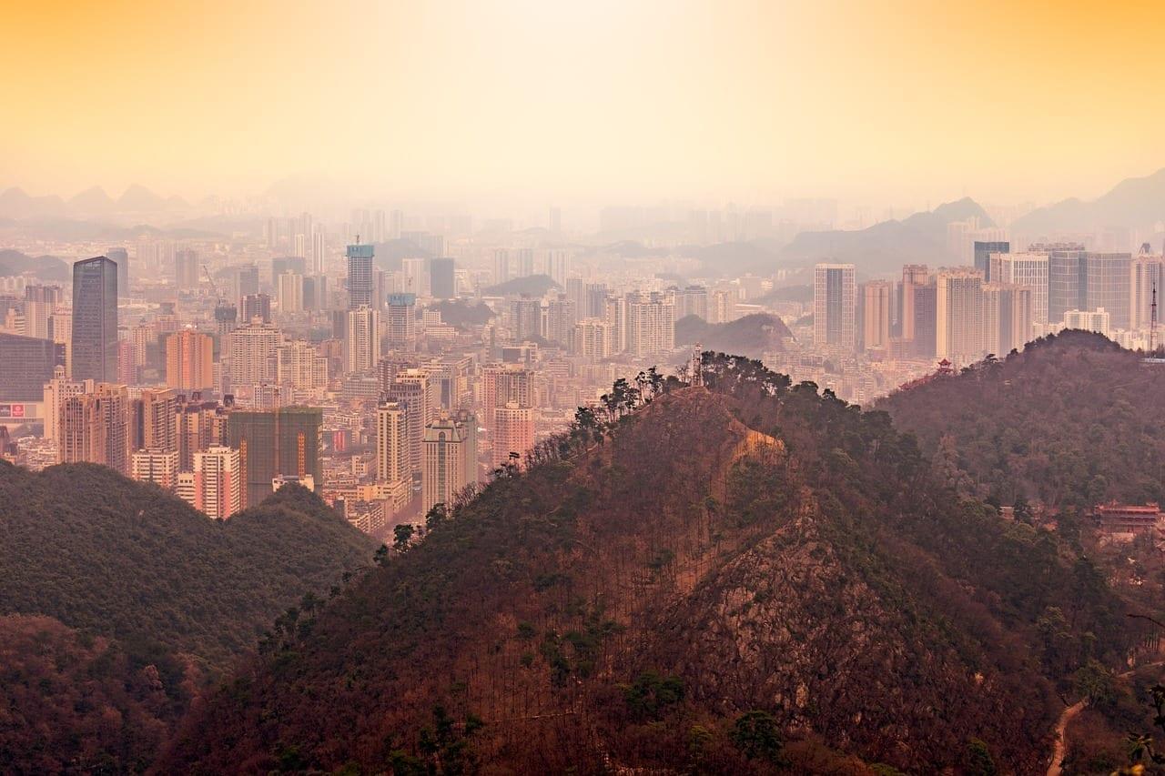Guiyang Gran Luo Ling A Vista De Pájaro China