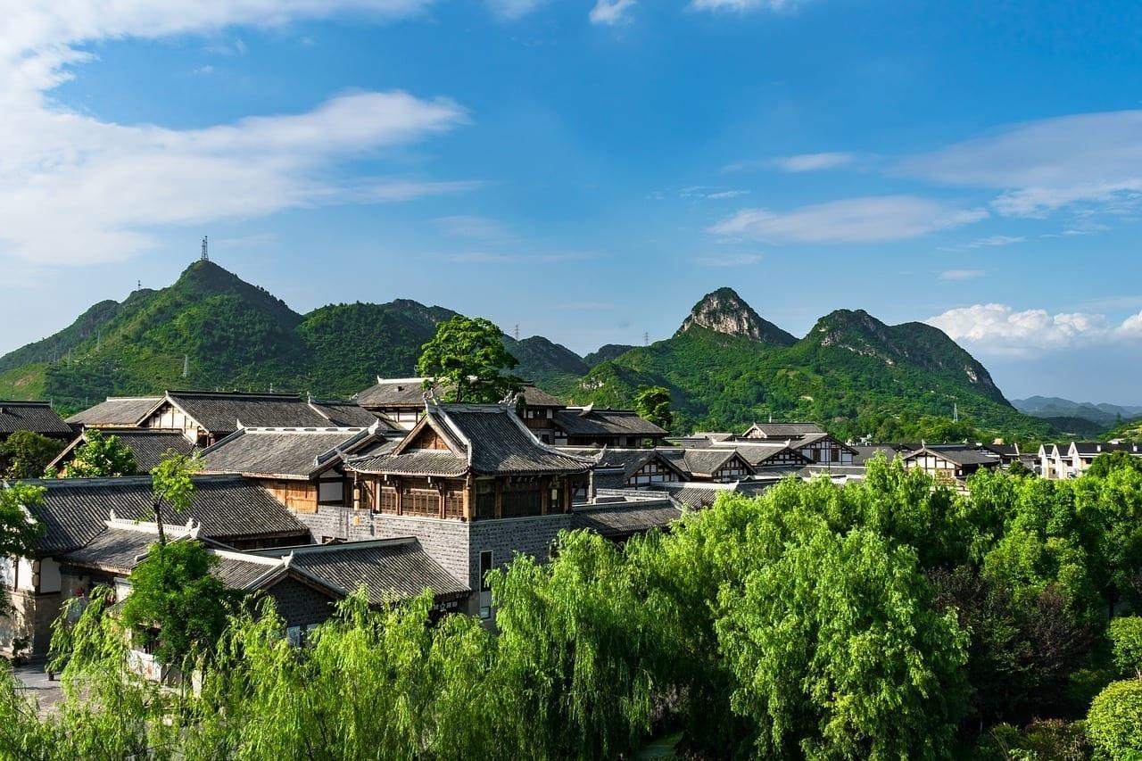 Guiyang Qingyan Antiguos De La Ciudad Huaxi China