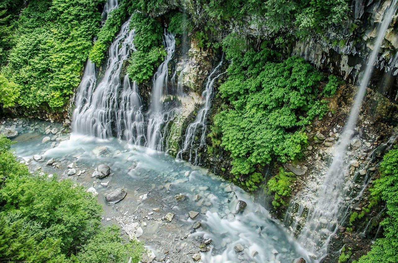 Hokkaido Cascada Cascada De Shirahige Japón
