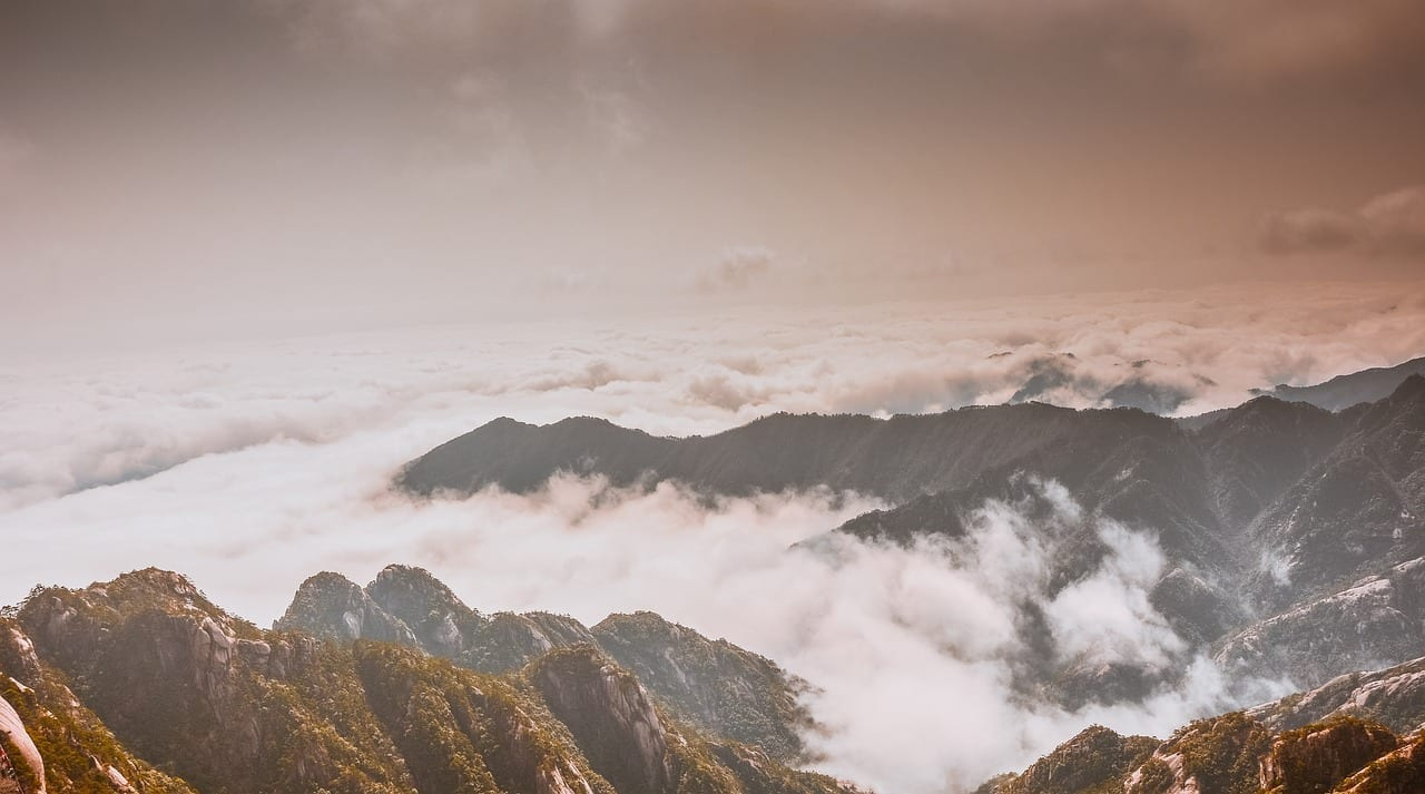 Huangshan Nubes Xian Qi China