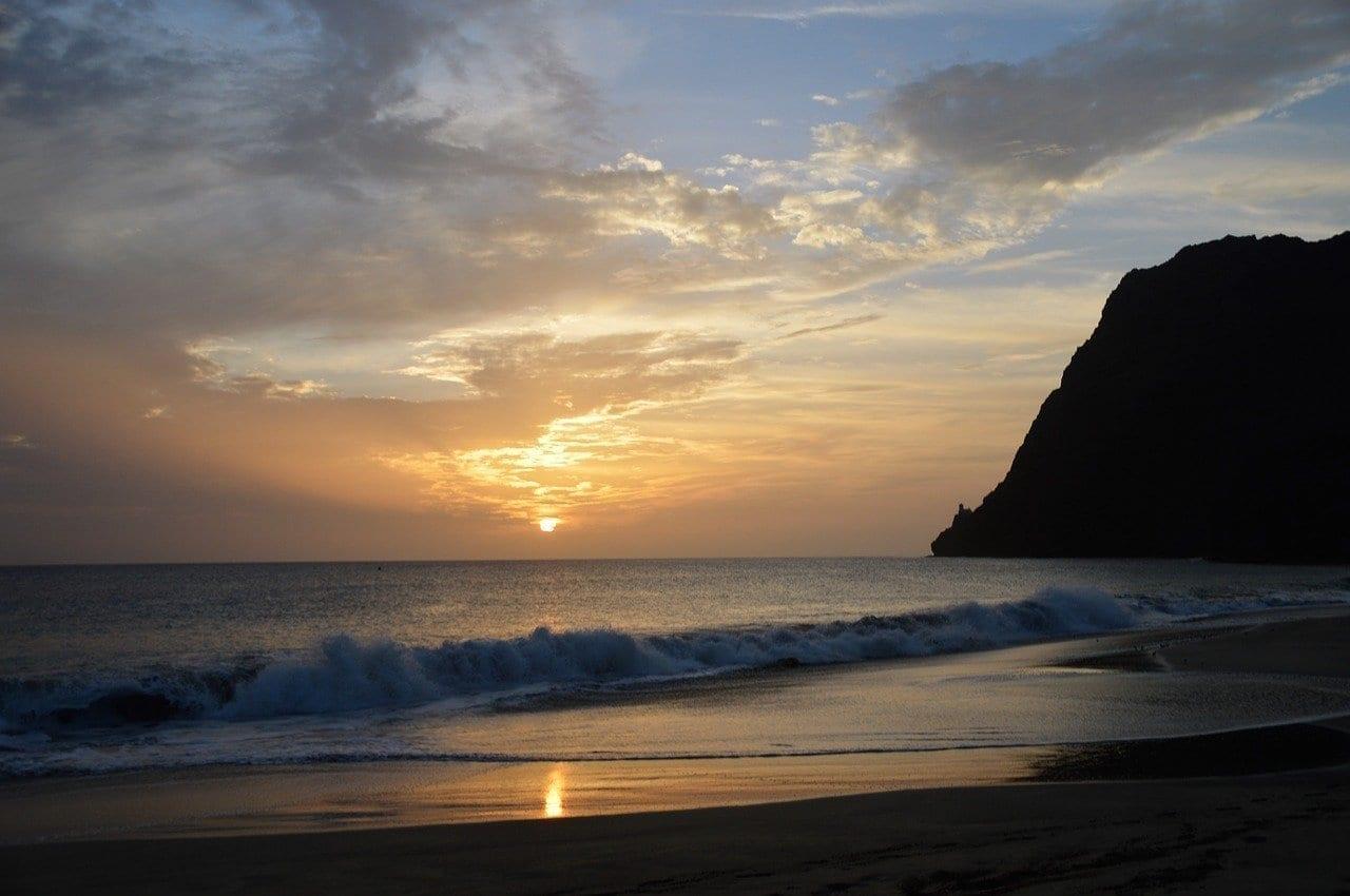 Islas De Cabo Verde Crepúsculo Playa Cabo Verde