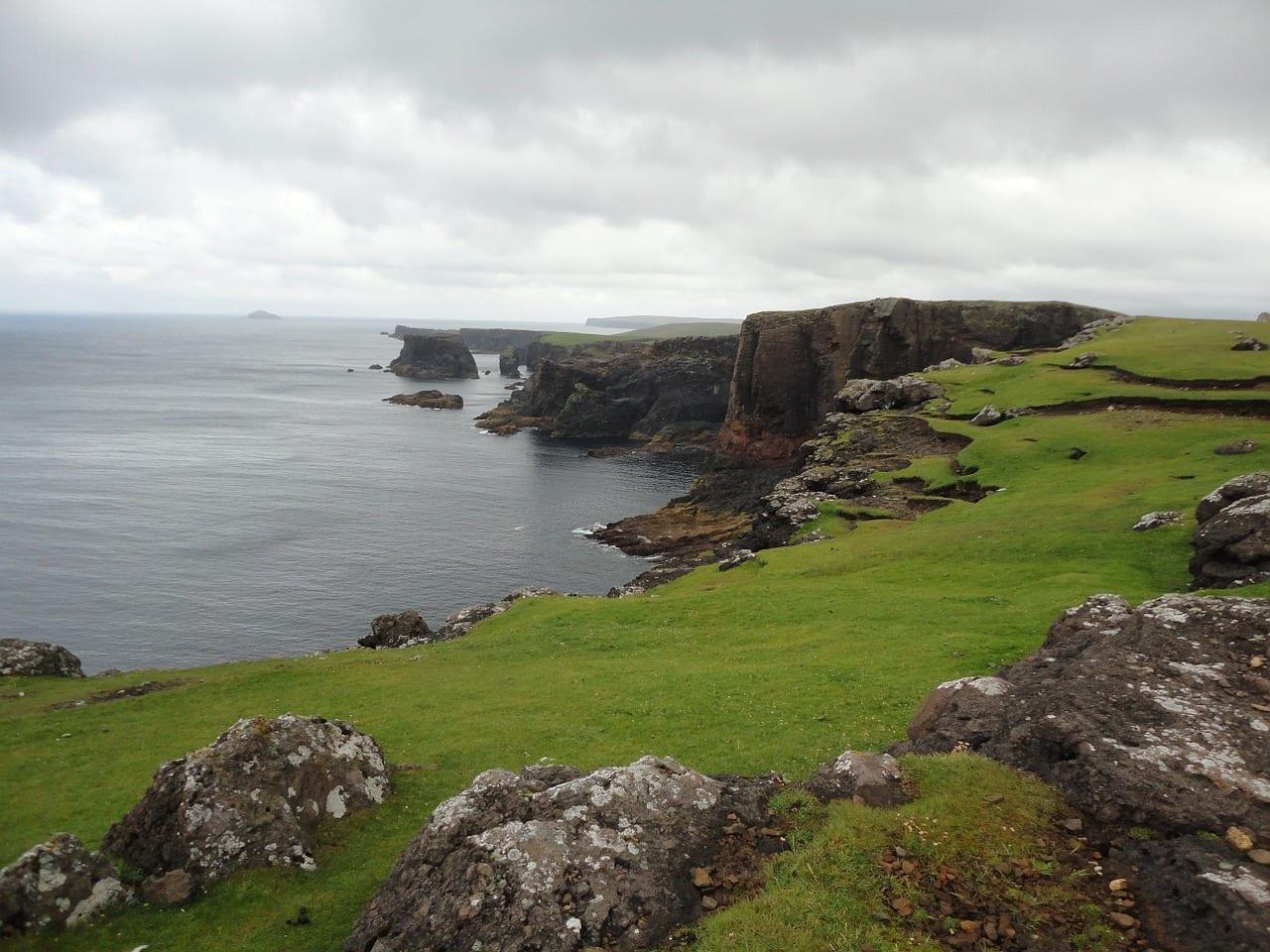 Islas Shetland Eshaness Mar Reino Unido