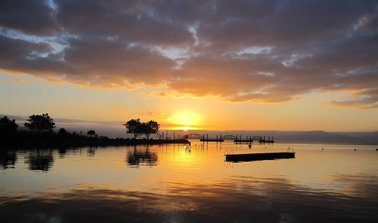Israel Mar De Galilea Sunrise Israel