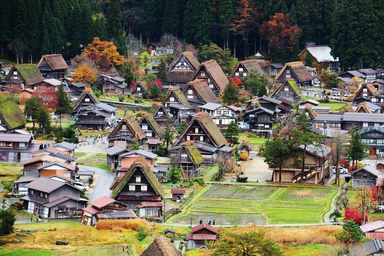 Japón Jin Ze Shirakawa Xiang Japón