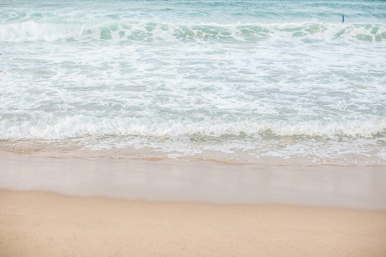 Jeju Island Sea Foto Verano Playa De Arena Blanca Corea del Sur