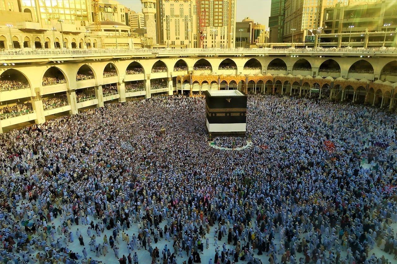 Kaaba Guía Del Peregrino Meca Arabia Saudí