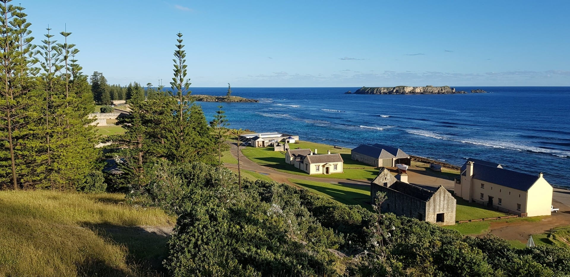 Kingston desde Flagstaff Hill, Isla de Norfolk Norfolk Island Australia