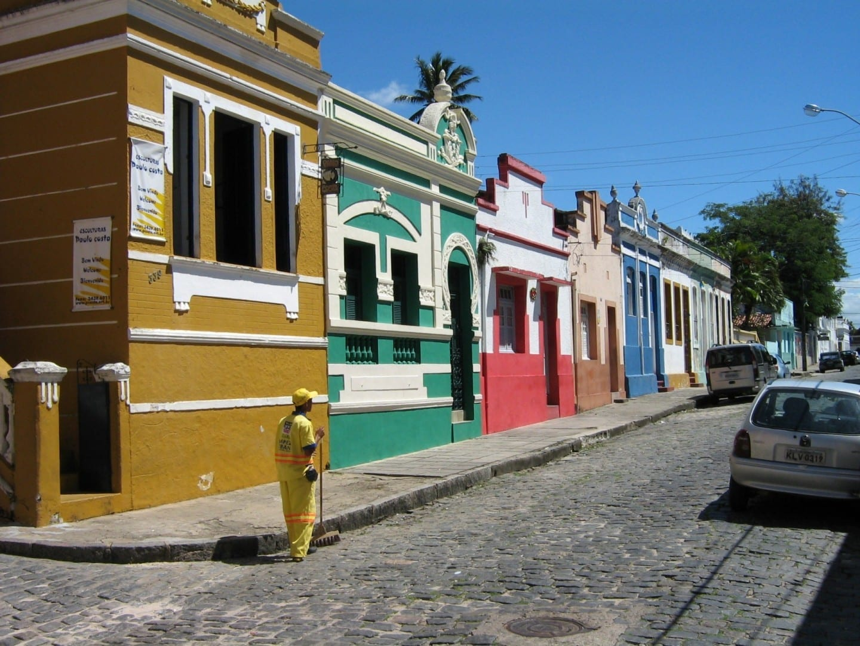 La calle Rua Prudente de Morais en Olinda Olinda Brasil