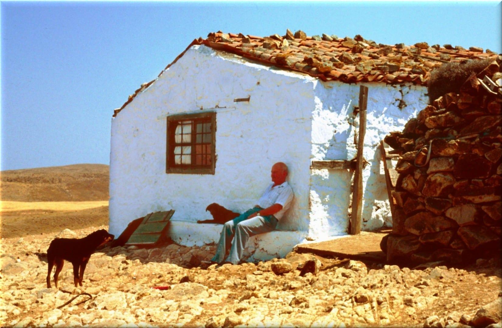 La casa tradicional de los agricultores en Lemnos Lemnos Grecia