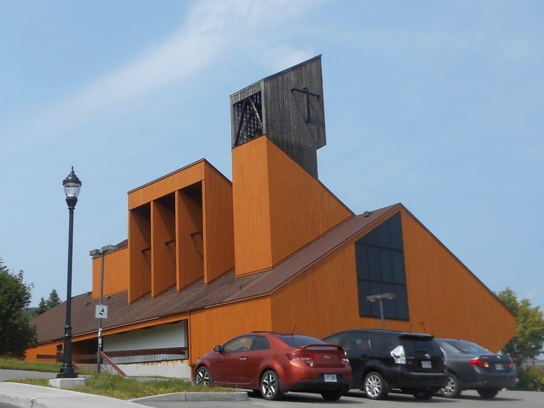 La Catedral de Cristo Rey. Gaspé Canadá