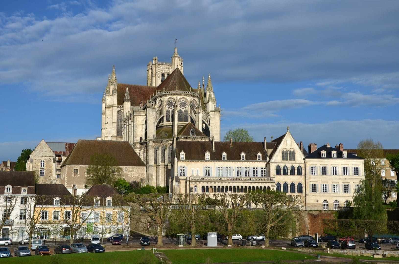 La catedral de Saint-Etienne d'Auxerre Auxerre Francia