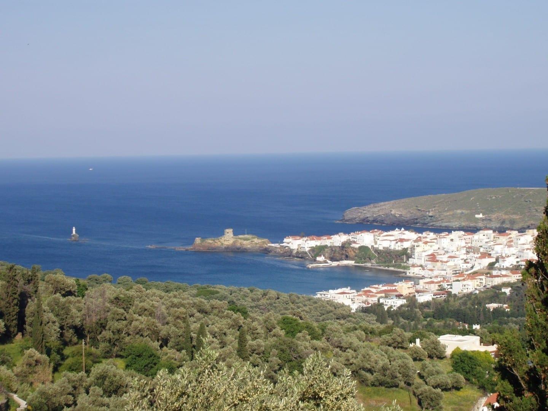 La ciudad de Andros. Andros Grecia