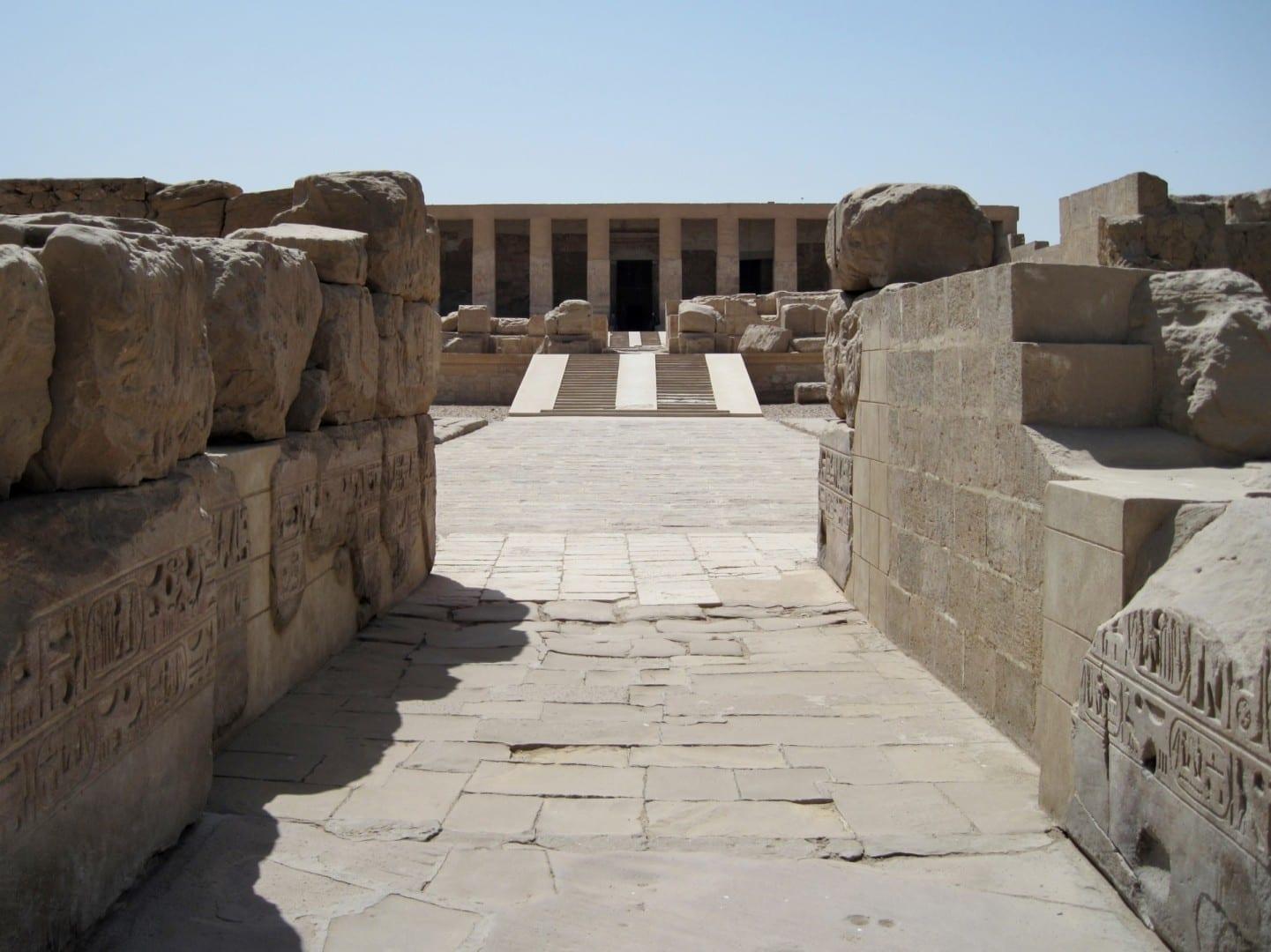 La entrada del templo Abydos Egipto