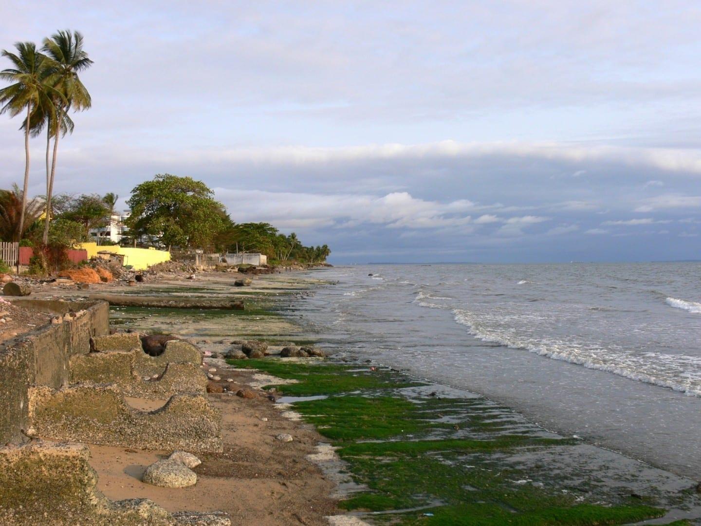 La escena de la playa de Libreville Libreville Gabón