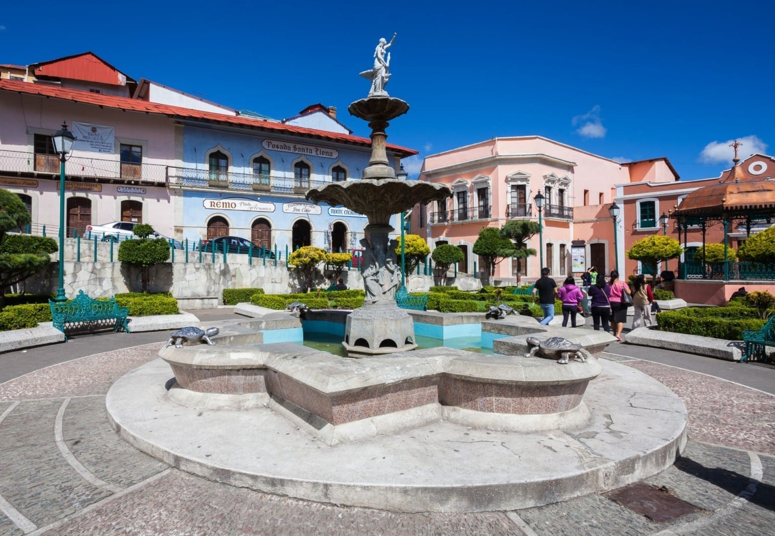 La fuente en la plaza principal Real del Monte México