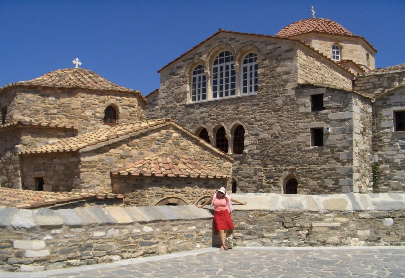 La iglesia de Panagia Ekatontapiliani. Paros Grecia