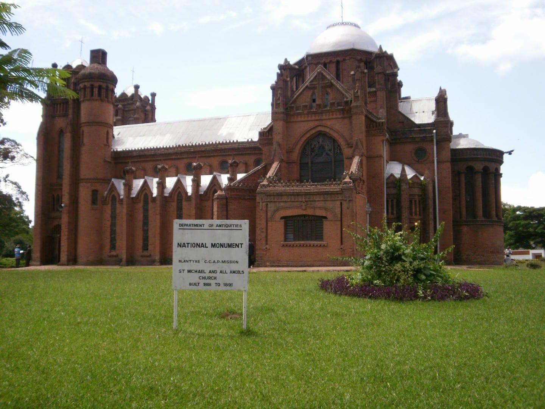 La iglesia de San Miguel y todos los ángeles. Blantyre Malawi